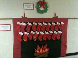 christmas classroom door decorations chimney happy holidays