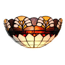 baroque flower wall light modern vintage stained cut glass