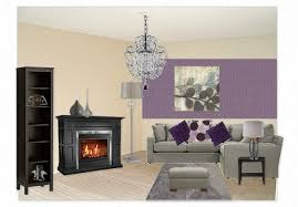 purple and grey living room by alia4 olioboard