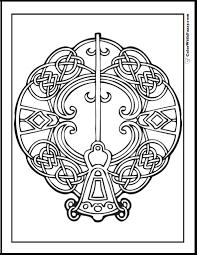ColorWithFuzzy Celtic Coloring Pages Key Design