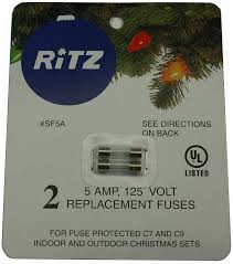 Fixing Christmas Tree Lights Fuse by 5 Amp Christmas Light Replacement Fuses Sf5a Amazon Com