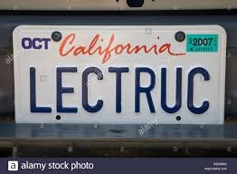 100 Truck License Close Up Of LECTRUC Electric License Plate Palo Alto