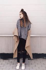 Grunge Street Outfit For Winter