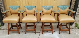 Southwestern Bar Stools Set Of 4 By The Saddle Ranch Co.