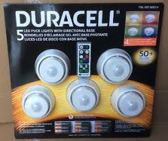 Duracell 5 LED Puck Lights Directional Base Remote Control