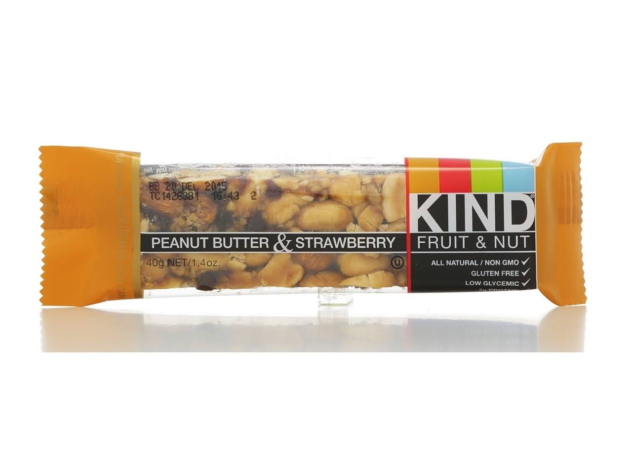 Kind Fruit & Nut Protein Bars - Peanut Butter & Strawberry, 12 Pack