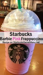 Starbucks Secret Menu Barbie Pink Frappuccino