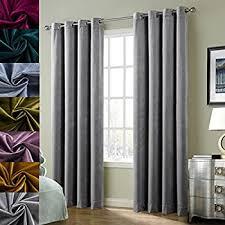 Amazon Velvet Curtain Panels by Amazon Com Chadmade Set Of 2 Solid Matt Velvet Curtain Panel