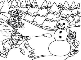 Winter Sports Coloring Pages Printable Clothes Scene Sheet Free Disney Holiday