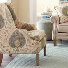Craftmaster Sofa In Emotion Beige by Craftmaster Accent Chairs Transitional Chair With Scalloped Arms