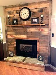 Wood Wall Fireplace Wooden Pallet Plank
