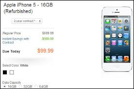 AT&T Selling Refurbished 16GB iPhone 5 for $100