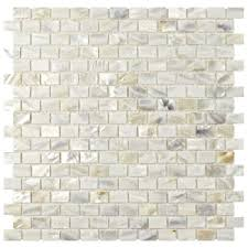 Home Depot Merola Penny Tile by Merola Tile Conchella Subway White 11 3 4 In X 11 3 4 In X 2 Mm