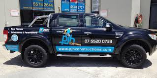 100 Business Magnets For Trucks Vehicle Signage For PJH Constructions Signage Nerang