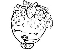 Shopkins Coloring Pages Print Lippy Lips