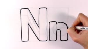 How To Draw A Cartoon Letter N And N YouTube