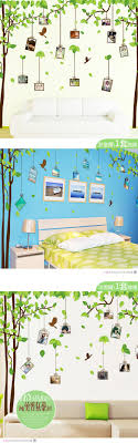 Tree Leaves Spring Photo Frame Wall Stickers Home Decorations Kitchen Decals Mural Art Removable Diy