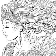Beautiful Princess Fantasy Coloring Page For Adult
