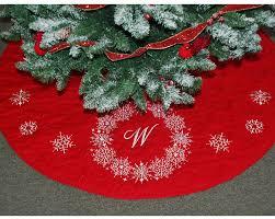 Snowflake Wreath Personalized Christmas Tree Skirt