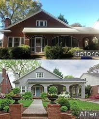 bungalow bureau facade maison couleur before and after a