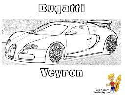 Coloring Print Out Bugatti Veyron Side View At YesColoring