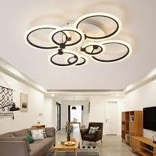 rings white black chandeliers led circle modern chandelier lights