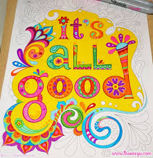 Its All Good WIP From Thaneeya McArdles Vibes Coloring Book Being Colored In