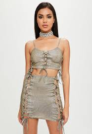 Carli Bybel Halloween by Carli Bybel X Missguided Gold Glitter Crop Top Missguided