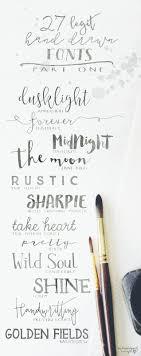 27 Legit Hand Drawn Fonts