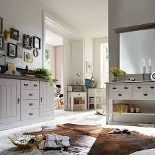 wohnzimmer highboard mirandesca in grau weiß