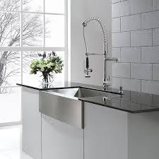 Ferguson Stainless Steel Kitchen Sinks by Kraus Khf200 36 Kpf1602 Ksd30ch 36 Inch Farmhouse Single Bowl