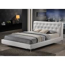 Roma Tufted Wingback Bed King by Wingback White Tufted Bed U2014 Derektime Design Luxurious White