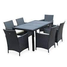 tables de jardin en resine salon de jardin en résine tressée 6 places tavola