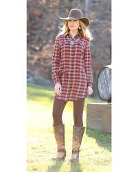 wrangler women u0027s rust plaid shirt dress country outfitter