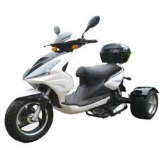 50cc Differential Gear Equipped Trike Gas Motor Scooters