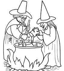 Download Witch Halloween Coloring Pages Printable