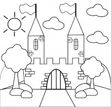 Castle Coloring Pages For Toddler
