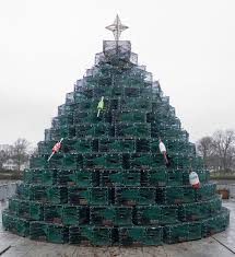 Decorative Lobster Trap Buoys by Cohasset Letter Lobster Trap Christmas Tree Now A Town Tradition