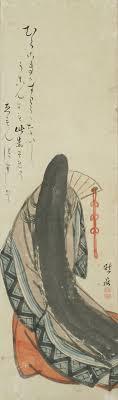 japanese painting scroll sei shonagon the pillow book heian period oka yugaku kimono beifongkendo tumblr