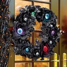 Grandin Road Halloween Wreath by Lighted Eyeball Halloween Wreath Improvements Catalog