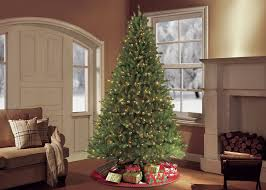 Popular Artificial Silver Tip Christmas Tree by Puleo 9 U0027 Green Artificial Christmas Tree With 1000 Ul Clear Lights