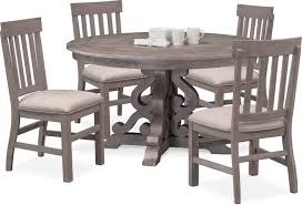 Charthouse Round Dining Table And 4 Side Chairs | Value City ... 5 Pc Small Kitchen Table And Chairs Setround 4 Beautiful White Round Homesfeed 3 Pc 2 Shop The Gray Barn Spring Mount 5piece Ding Set With Cm3556undtoplioodwithmirrordingtabletpresso Kaitlin Miami Direct Fniture Upholstered Chair By Liberty Wolf Of America Wenslow Piece Rustic Alpine Newberry 54 In Salvaged Grey Art Inc Saint Germain 5piece Marble Set 6 Chairs Tables