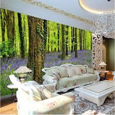 beibehang nach foto tapete 3d stereo große wandbilder wald pflanzen und blumen wohnzimmer sofa schlafzimmer silber tuch
