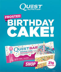 Quest Nutrition Protein Bar Frosted Birthday Cake Gluten Free Box Of 12 Bars