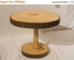 Sale 12 By 13 Beech Tree Pedestal Stand Wood Slab Cake