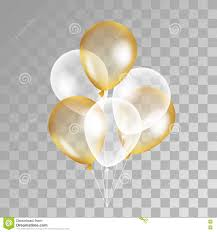 Gold transparent balloon on background