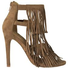 womens fringe high heel party ladies tassels strappy stiletto