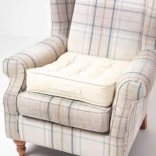 homescapes großes sitzkissen 50 x 50 cm creme weiß sitzpolster für sessel und sofas mit tragegriff und baumwollbezug gepolstertes matratzenkissen