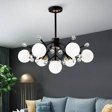 großhandel moderne nordic deco kugel led schwarz weiß rot decke hängenden kronleuchter beleuchtung le für haus küche wohnzimmer loft