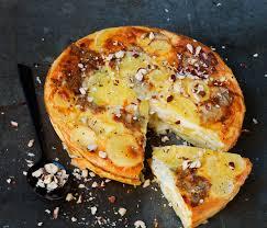 tarte sans pâte aux pommes de terre et gorgonzola